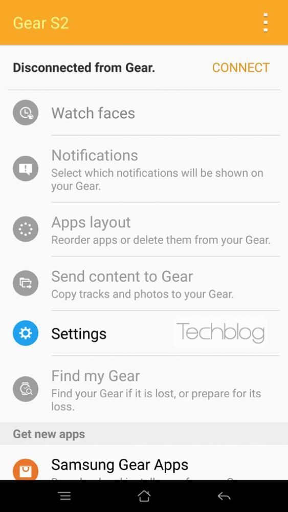 Gear S2 app screenshot