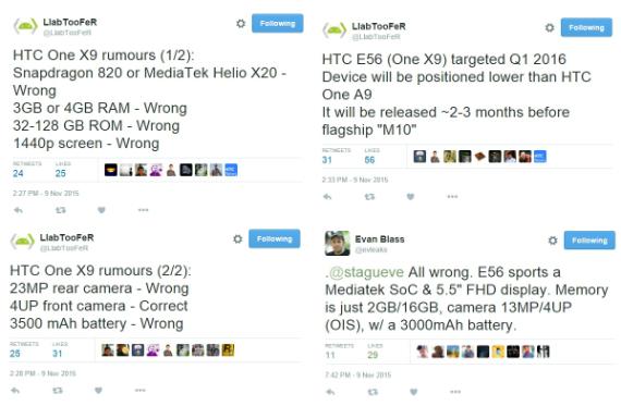 HTC One M10 X9