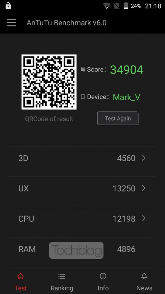 Creev Mark V AnTuTu Benchmark