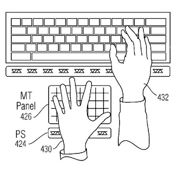 Apple virtual multi finger keyboard