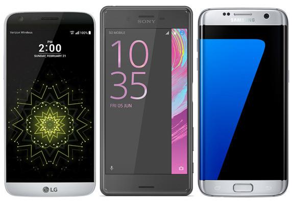 LG G5 Xperia X Galaxy S7