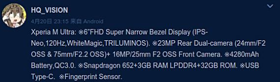 Sony Xperia M Ultra: Με οθόνη 6 ιντσών και κάμερα 23 Megapixel;