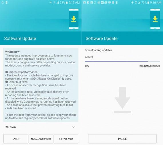 samsung galaxy s7 firmware update 570