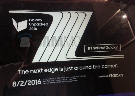 Galaxy Note 7 Edge August 2