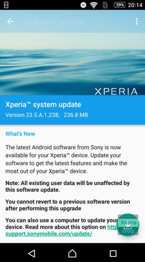 Marshmallow update xperia
