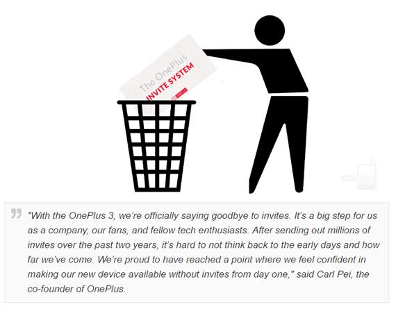 OnePlus 3 invite system