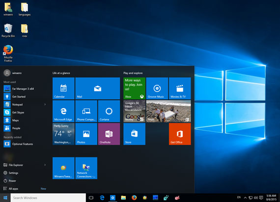 Windows 10 start menu 570