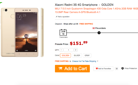 redmi 3s price