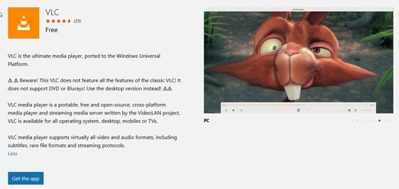 vlc windows 10 app 570