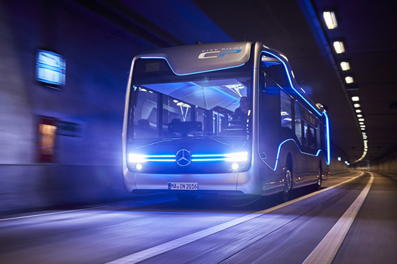 Mercedes-Benz Future Bus with CityPilot night