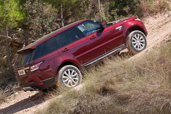 Range Rover Sport autonomous off-road driving