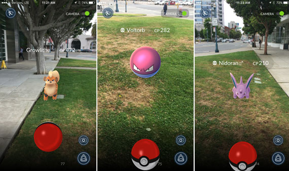 Pokemon Go screen