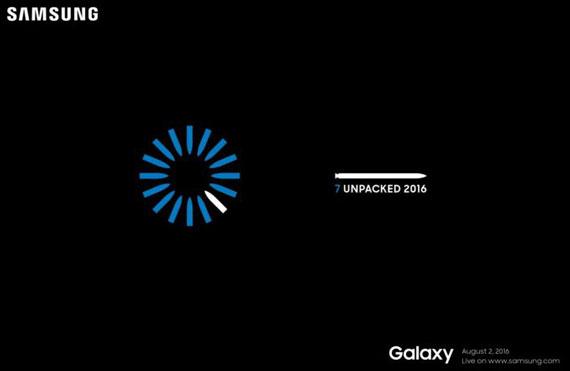Samsung Galaxy Note 7 invitation
