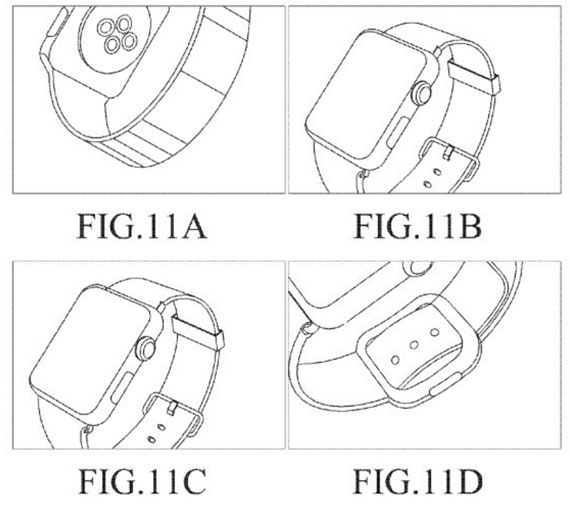 Samsung patent with Apple Watch sketches