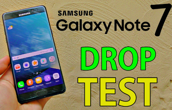 note 7 drop test