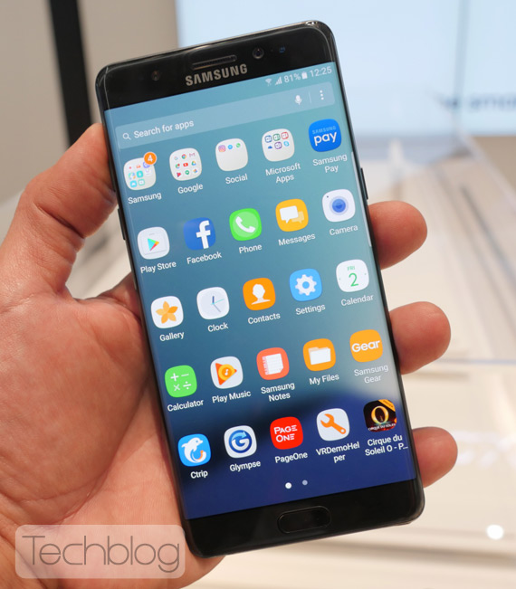 Galaxy Note 7 hands-on IFA 2016