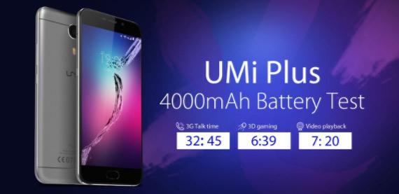 UMi Plus battery test