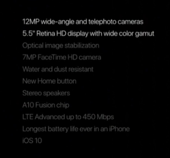 iphone 7 plus specs