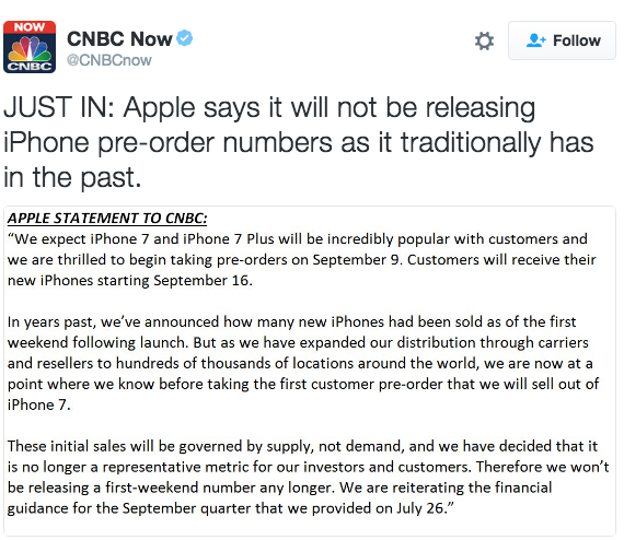 statement apple