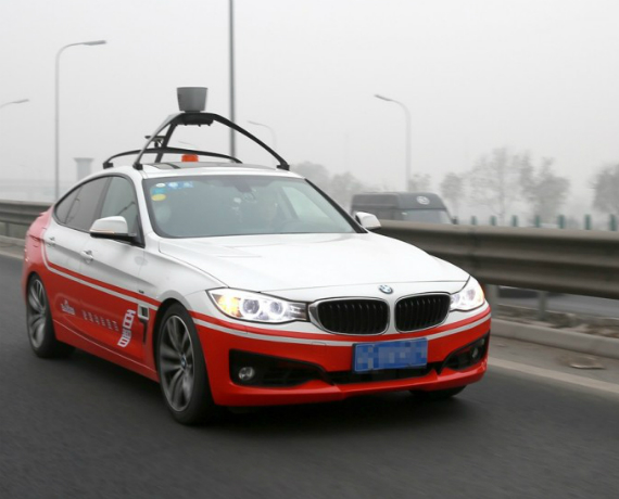 baidu bmw self driving car