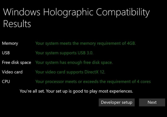 windows 10 vr minimum specs