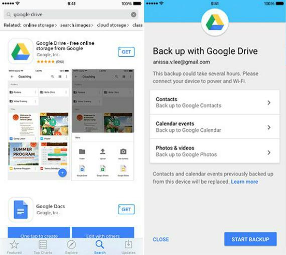 googledrive migration ios android