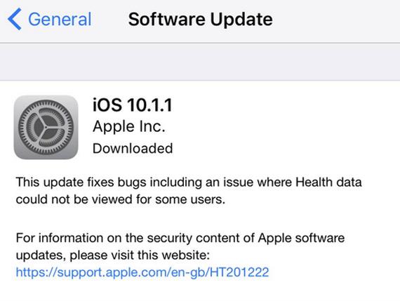 ios 10.1.1 software update