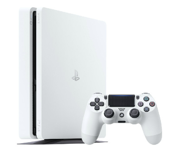 ps4 slim white glacier