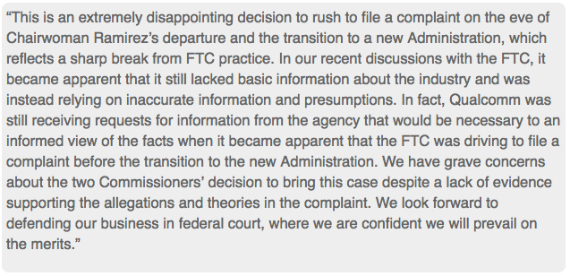 qualcomm answer ftc