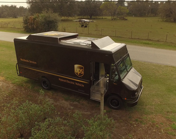 UPS delivery with drone