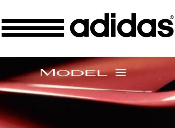 adidas logo Tesla logo