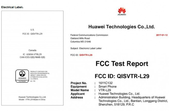 Huawei P10 με μπαταρία 3100mAh στην FCC