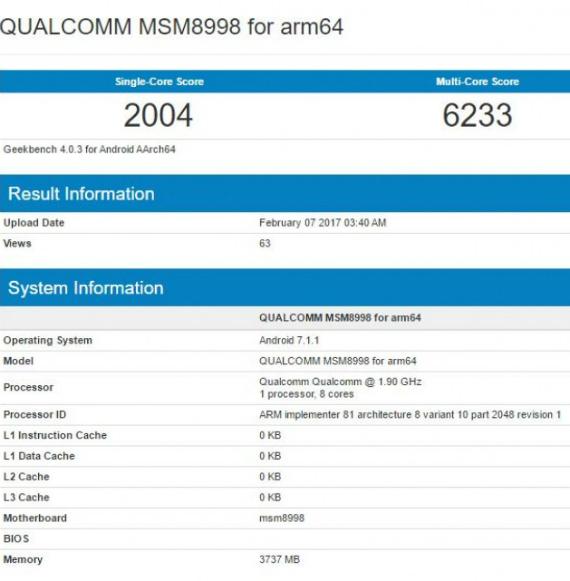 snapdragon 835 benchmark