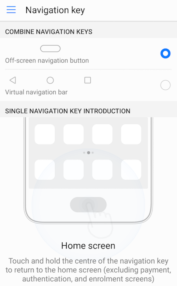 huawei p10 button gestures