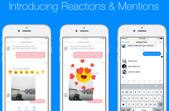 messenger reactions