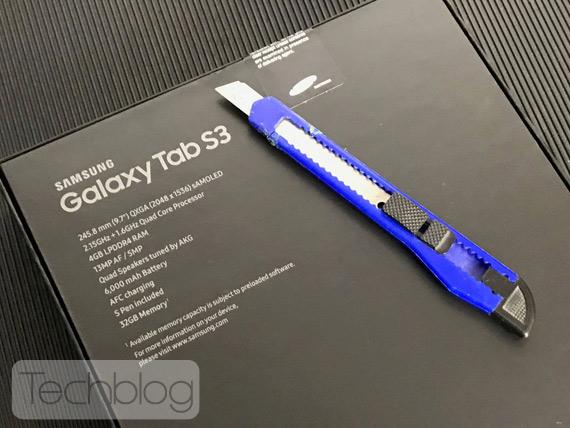 Samsung Galaxy Tab S3 unbox Techblog
