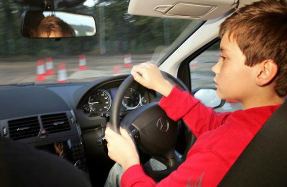 children driving