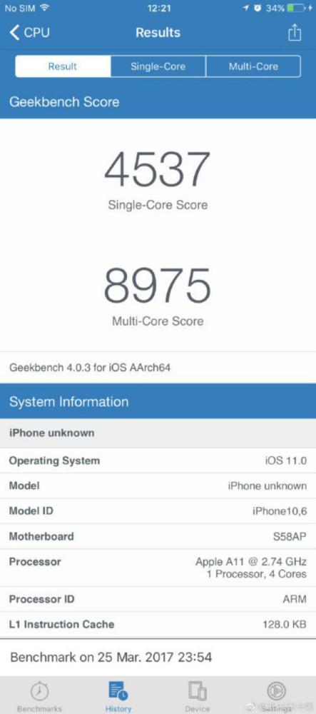 iphone 8 geekbench