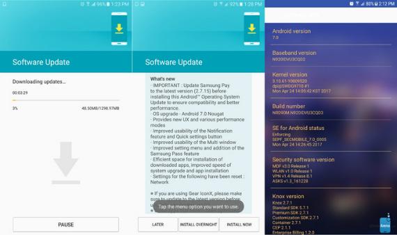 Galaxy Note 5 nougat