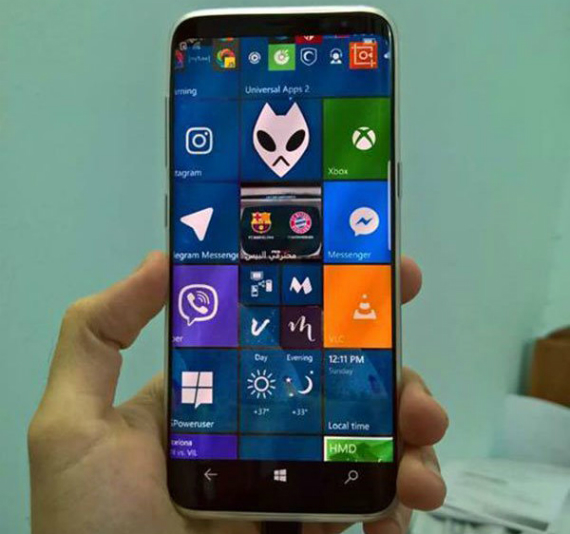 Galaxy S8 Windows 10 Mobile