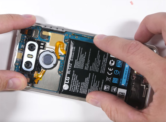 LG G6 transparent clear video mod