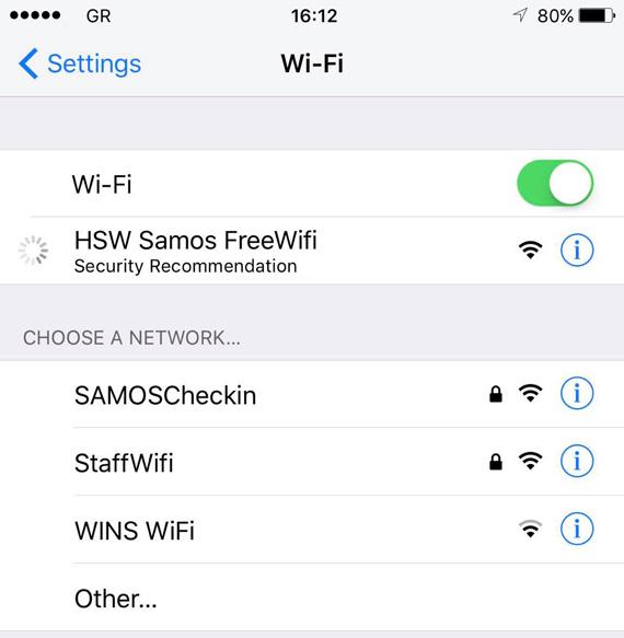 Nissos Samos Free WiFi