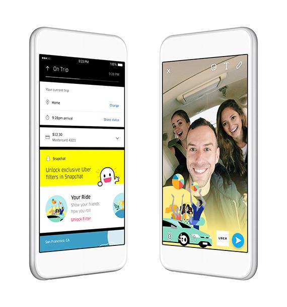 Uber Snapchat RideType