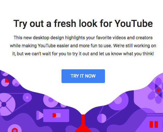 YouTube new material design