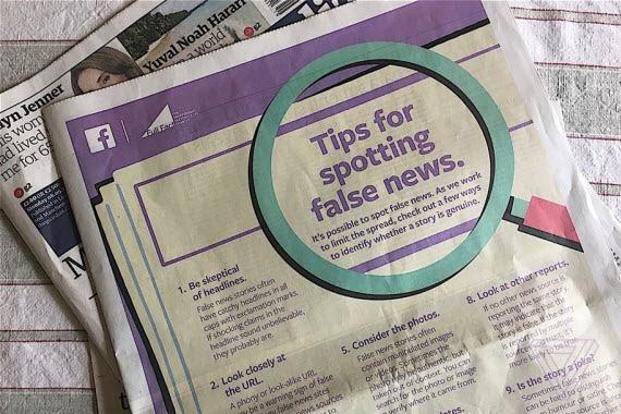 tips for spotting fake news