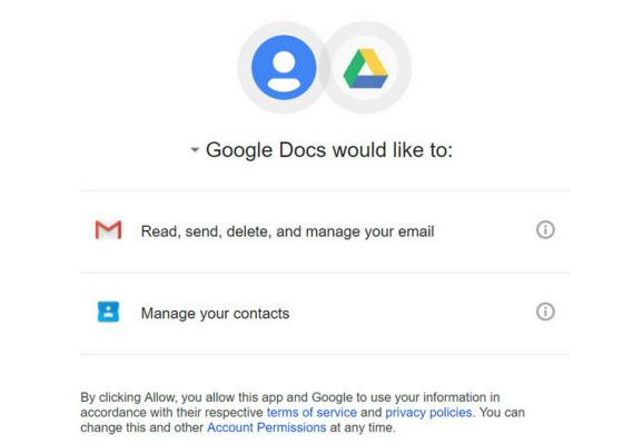 gogole docs phishing