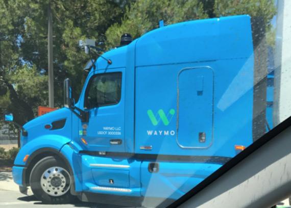 Google Waymo Truck
