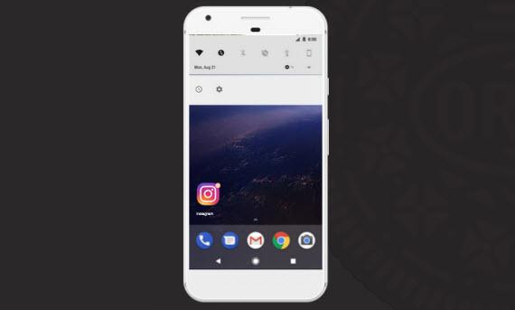 android oreo notification dots