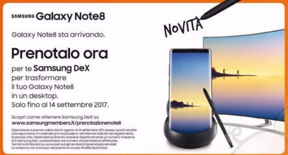 galaxy note 8 europe leaflet