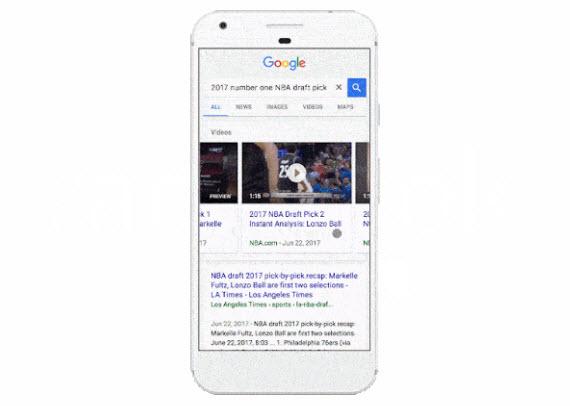 Google: Προεπισκοπήσεις βίντεο στα αποτελέσματα αναζήτησης σε Android